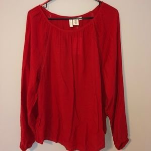 Red H&M Long sleeve